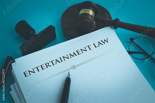 ENTERTAINMENT LAW CONCEPT