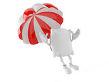 Pillow character with parachute - 177236524