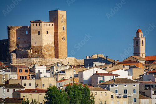 Cofrentes town, castle and bellfry Poster
