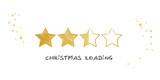 Ladebalken Weihnachten Vekror Illustration mit goldenen Sternen auf weißem Grund