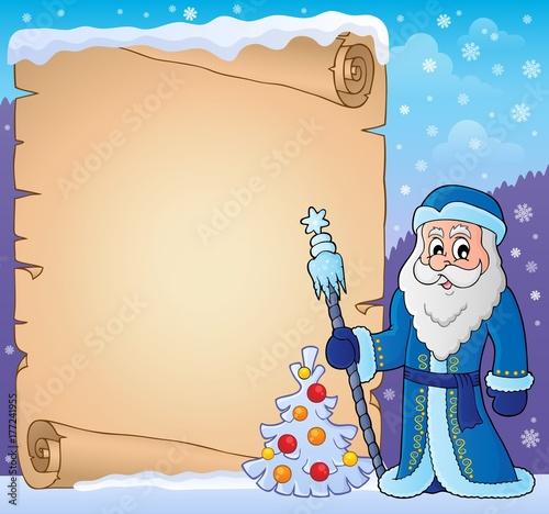 Papiers peints Enfants Father Frost theme parchment 3