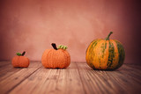 Two knit and one real pumpkin - 177254383