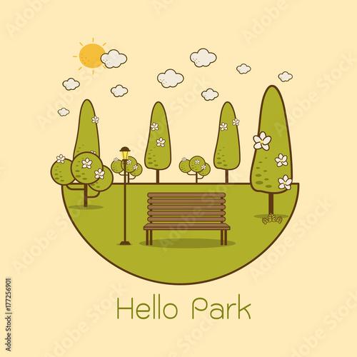 Foto op Plexiglas Beige Public Park in The City