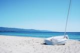 Spiaggia del Poetto beach in Sardinia, Italy
