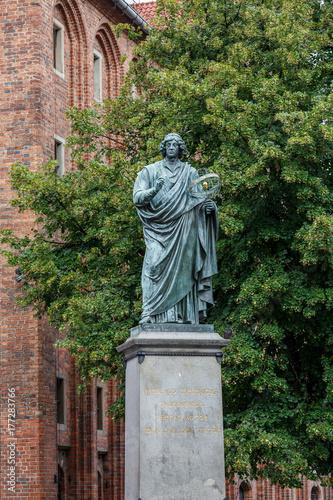 Fototapeta Monument to Copernicus. Poland, Torun