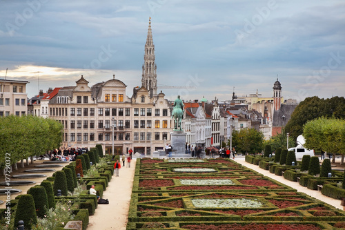Foto op Canvas Brussel Hill of arts in Brussels. Belgium