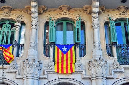 Staande foto Barcelona Spanish house