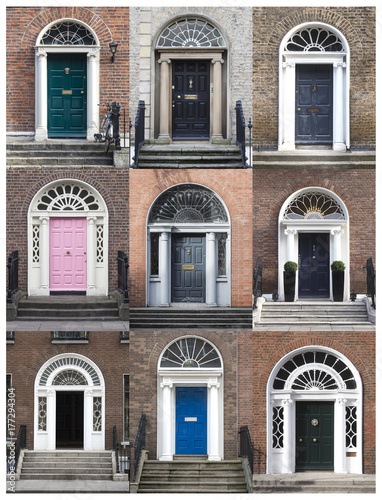 GEORGIAN DOORS - DUBLIN, IRELAND Poster