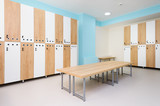 Interior of gym locker room - 177294795