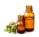 rosemary essential oil isolated on white - 177294970