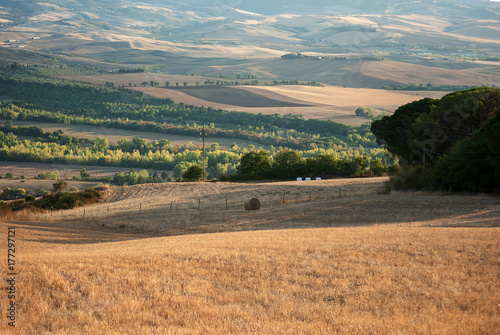 Deurstickers Toscane Beautiful view of Tuscany at dawn
