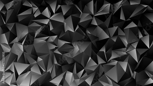 Geometrical abstrakcjonistyczny chaotyczny trójboka wzoru tło - mozaiki wektorowa grafika od ciemnych popielatych trójboków