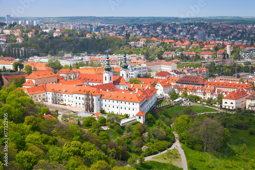 View of Prague with Strahov Monastery Poster