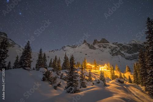 Foto Murales Sternenklare Winternacht