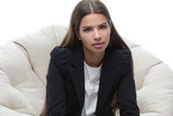 business woman relaxarea in a comfortable chair - 177331705