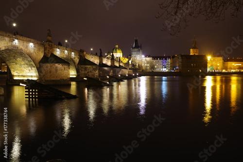 Charles Bridge by Night Poster