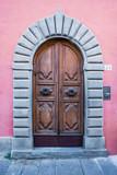 Porta in legno, ingresso vecchio palazzo signorile - 177342900