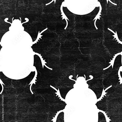 Materiał do szycia insects seamless