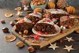 Christmas fruit cake - 177362926