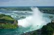 horseshoe falls, misted