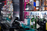 Drinks on the showcase of the bar - 177368789