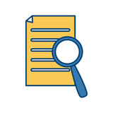 Searching in documents icon vector illustration graphic design - 177375777