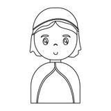 cartoon virgin mary icon over white background vector illustration - 177380719