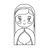 cartoon virgin mary icon over white background vector illustration - 177380744