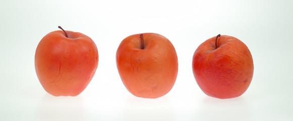 Apples on a row
