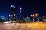 Warsaw's tower by night - 177397336