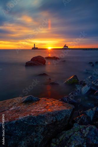 Foto op Canvas Zee zonsondergang Sunrise at Canal Park