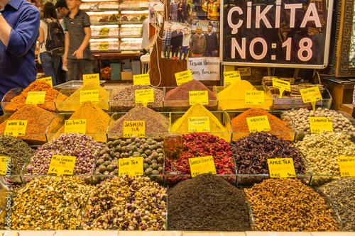 Gewürzmarkt Istanbul Türkei Poster