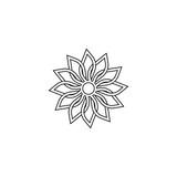 Abstract Floral Mandala - 177410984