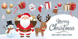 Christmas and new year elements - Icons, characters, labels, lettering