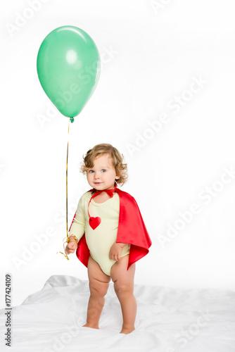 adorable toddler with balloon