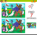 find differences game with birds characters - 177425799