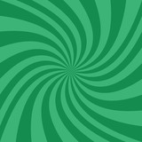 Abstract spiral design background from radial green ray stripes - vector illustration - 177428103