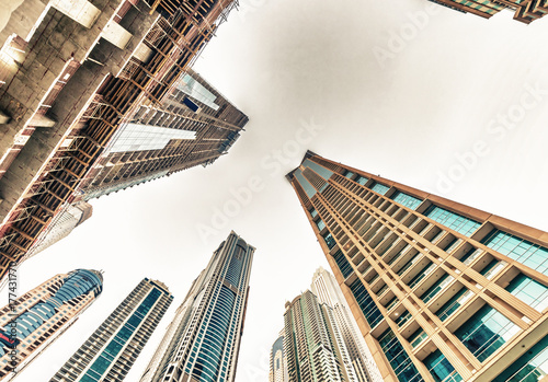 Fotobehang Toronto Tall skyscrapers of Dubai Marina, UAE