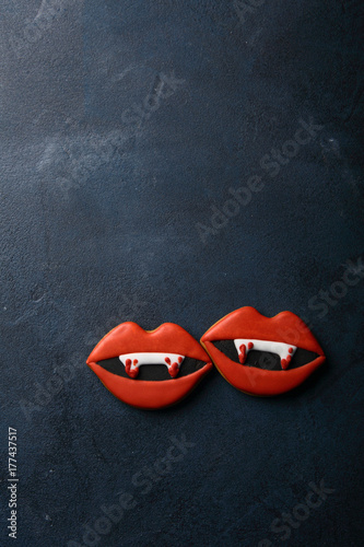 Halloween lips background Poster