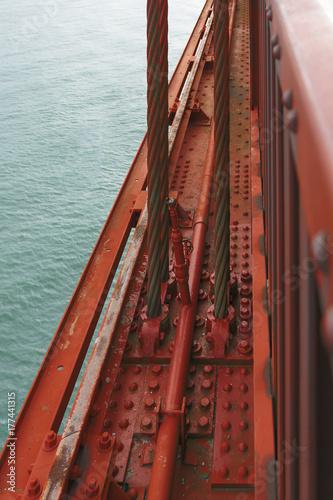 detail of the famous Golden Gate Bridge Poster