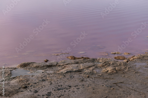 Foto op Canvas Lavendel View of the pink lake of Torrevieja