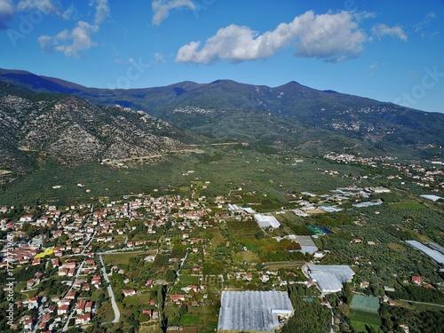 Aluminium Khaki Griechenland aus der Luft