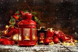 Xmas lanterns and balls - 177476753