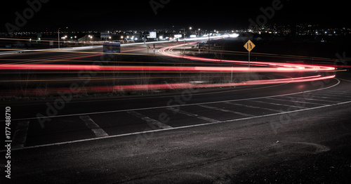 Fotobehang Nacht snelweg Freeway