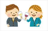 ワインで乾杯する会社員 - 177488920