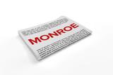 Monroe on Newspaper background