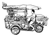 Bangkok, Thailand. street food tricycle - 177494102