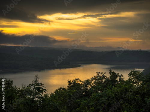 Staande foto Afrika Mountain landscape during sunset in the summer time