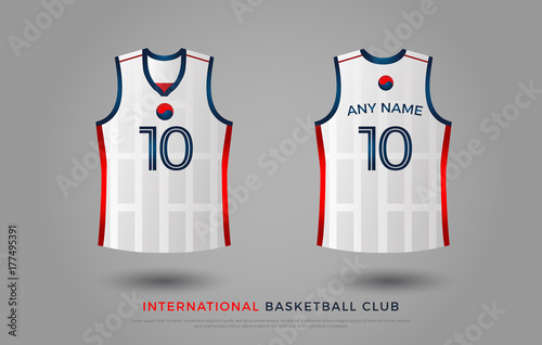 Basketball T Shirt Design Uniform Set Of Kit Basketball Jersey