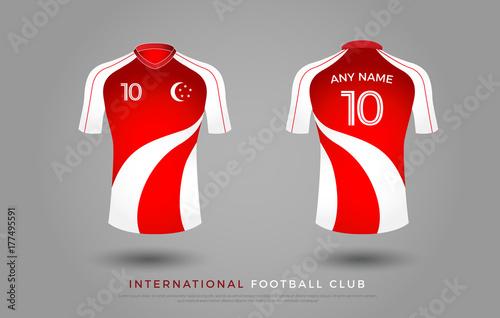 2610468f3 soccer t-shirt design uniform set of soccer kit. football jersey template  for soccer